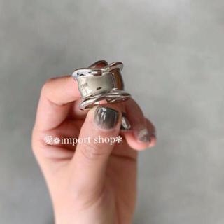 ドゥロワー(Drawer)の【silver 925 】ボーンカフリング / シルバーリング(リング(指輪))
