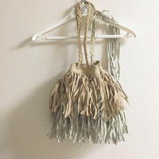 BEAUTY&YOUTH UNITED ARROWS - shikica tokyo フリンジ バッグ 巾着 ポーチ ユナイテッドアローズ