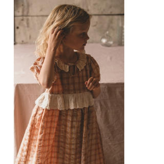 Caramel baby&child  - Apolina 'HATTIE' DRESS-HAY CHECK   ワンピース
