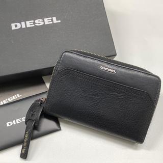 DIESEL - 中古 ☆ DIESEL レザー 折りたたみ財布 ブラック