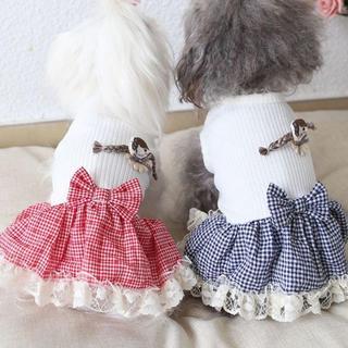 0256-2犬服 ドッグウェア 小型犬 2020夏服ワンピース かわいい