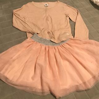 PETIT BATEAU - プチバトー チュール スカート セットアップ