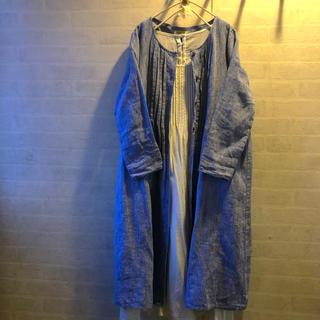 SM2 - SM2   リネン前ボタン長袖ワンピース 羽織り