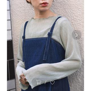 w closet - 新品タグ付き Wcloset シアートップス  ブルーグレー