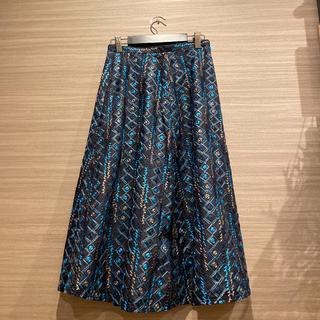 GRACE CONTINENTAL - 美品GRACE CLASS刺繍ミディアムスカート