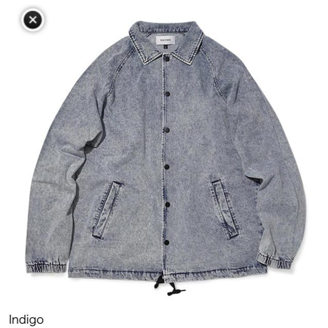 Ron Herman(ロンハーマン)の75%OFF❗️ パームストライプス デニムジャケット Mサイズ インディゴ メンズのジャケット/アウター(Gジャン/デニムジャケット)の商品写真