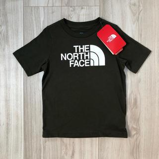 THE NORTH FACE - 【海外限定】新作 TNF ノースフェイス キッズ ロゴTシャツ カーキ 120