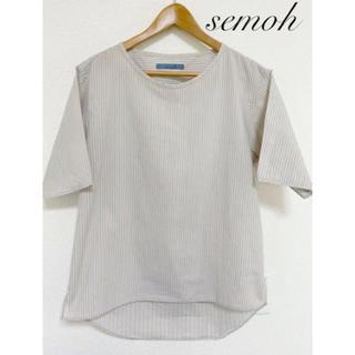 セモー 半袖シャツ ストライプ