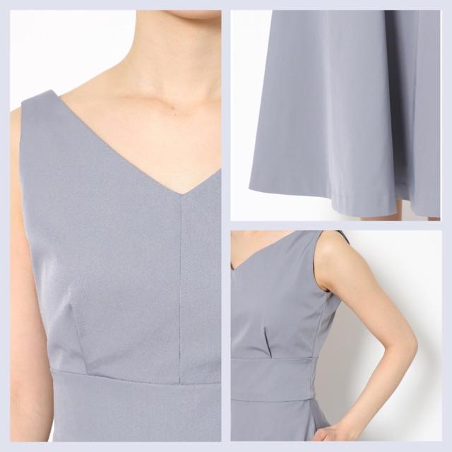 LagunaMoon(ラグナムーン)の2019購入♡定価22000円♡LAGUNAMOONノースリーブドレス♡結婚式に レディースのフォーマル/ドレス(ミディアムドレス)の商品写真