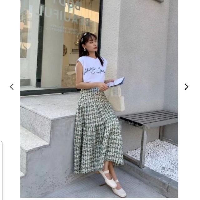 ZARA(ザラ)のバースデーバッシュ ツイードスカート birthdaybash レディースのスカート(ロングスカート)の商品写真