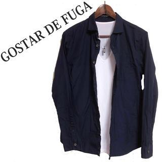 フーガ(FUGA)のGOSTAR DE FUGA 長袖シャツ 紺色 ワイドカラーシャツ ネイビー(シャツ)