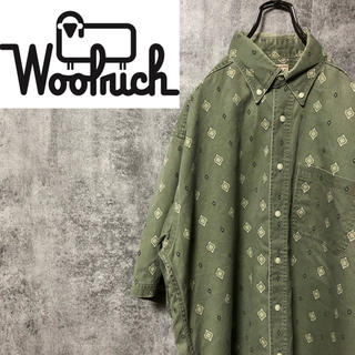 WOOLRICH - 【激レア】ウールリッチ☆USA製半袖ネイティブ柄小紋柄総柄シャツ 90s