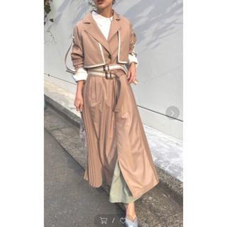 Ameri VINTAGE - AMERI  ROLL-UP sleeve pleats trench coat