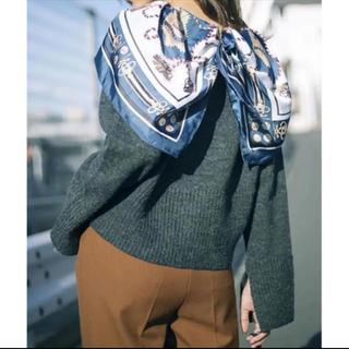 Ameri VINTAGE - 【新品タグ付き】アメリビンテージ scarf collar knit