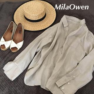Mila Owen - 美品 ミラオーウェン リネンシャツ IENA ドゥーズィエムクラス