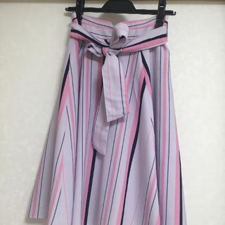 MISCH MASCH - ミッシュマッシュ 紫ストライプスカート
