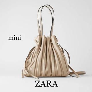 ZARA - 【新品】ZARA★ザラ  プリーツ加工 バスケットバック  小 ミニ