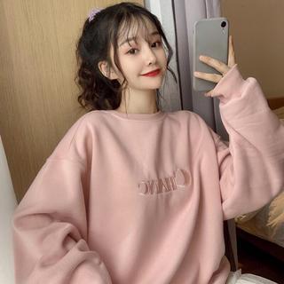 dholic - 韓国ファッション ビッグサイズスウェット ゆったり目 パステルカラー