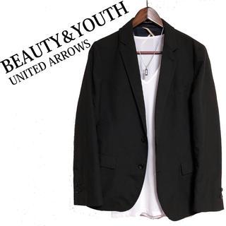 BEAUTY&YOUTH UNITED ARROWS - BEAUTY&YOUTH テーラードジャケット 黒 カジュアルジャケット
