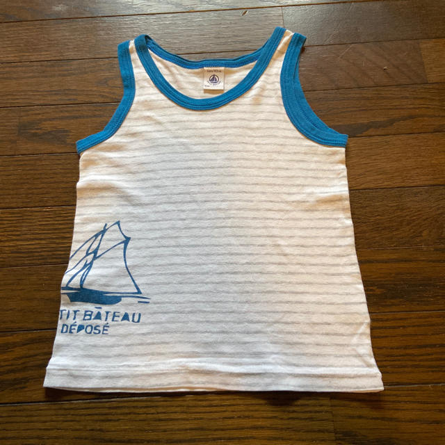 PETIT BATEAU(プチバトー)のプチバトー タンクトップ 4枚セット 4ans  102cm  102cm キッズ/ベビー/マタニティのキッズ服男の子用(90cm~)(Tシャツ/カットソー)の商品写真