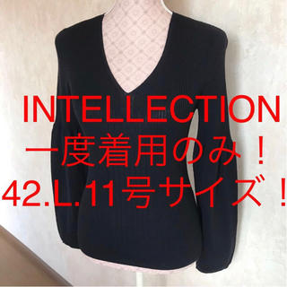 ☆INTELLECTION/インテレクション☆大きいサイズ!長袖ニットソー42