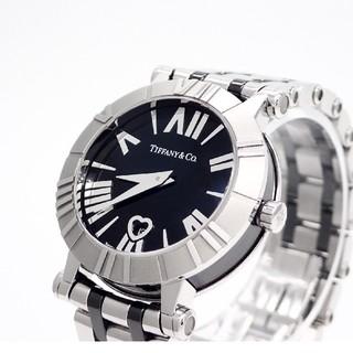 Tiffany & Co. - 【TIFFANY&Co.】ティファニー腕時計 'アトラス ブラック' ☆美品☆