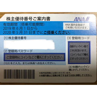 ANA(全日本空輸) - 【ANA】株主優待券:2020年5月31日まで