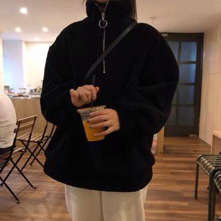 dholic - 韓国ファッション もこもこパーカー ゆったり目サイズ ビッグサイズ