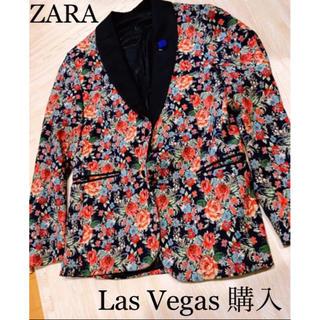 ザラ(ZARA)のZARA 美品 Las Vegas購入 薔薇ジャケット パーティー ドレスコード(その他)