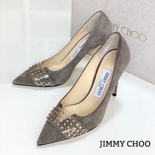 ジミーチュウ(JIMMY CHOO)の996 美品 ジミーチュウ クリア スエード パンプス(ハイヒール/パンプス)