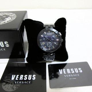 ヴェルサーチ(VERSACE)の新品 VERSUS VERSACE ヴェルサス ヴェルサーチ クロノグラフ 黒(腕時計(アナログ))