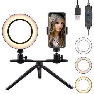 BLOOMWIN  LED リングライト 6inch 三脚スタント  調光可能