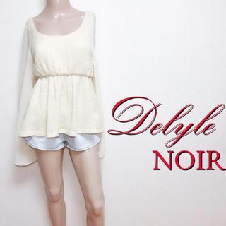 Delyle NOIR - 鬼かわ♪デイライルノアール ワイドスリーブ ペプラムトップス♡ダチュラ デュラス