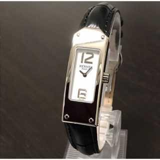 エルメス(Hermes)のメンテ済み ベルト2種付き 極美品 エルメス時計 ケリー2 白盤 電池交換済み(腕時計)