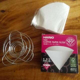 ハリオ(HARIO)の折りたたみ コーヒー ドリッパー ハリオ コーヒー フィルター 円錐型 01(調理道具/製菓道具)