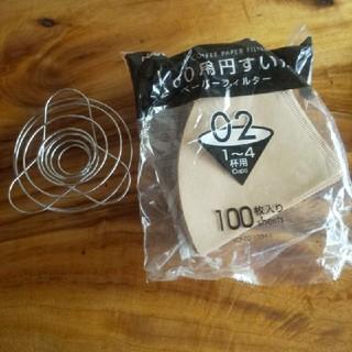 ハリオ(HARIO)の折りたたみ コーヒー ドリッパー ハリオ コーヒー フィルター 円錐型 02(調理道具/製菓道具)