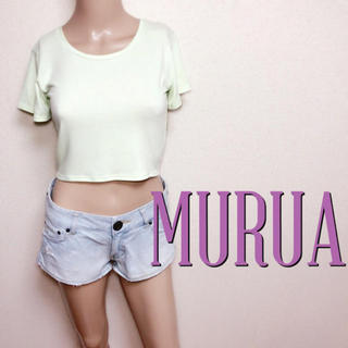 MURUA - 必需品♪ムルーア ちびピタ シンプルTシャツ♡エモダ マウジー