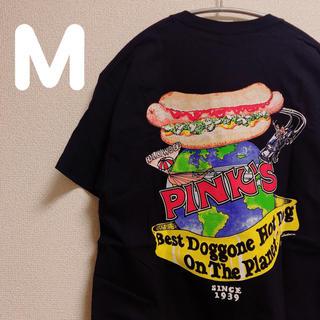 Pinks hot dog Tシャツ M(Tシャツ/カットソー(半袖/袖なし))