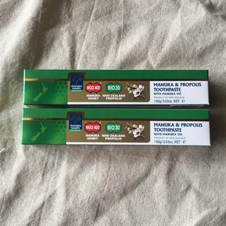 マヌカヘルス プロポリス マヌカハニー 歯磨き粉 2本セット