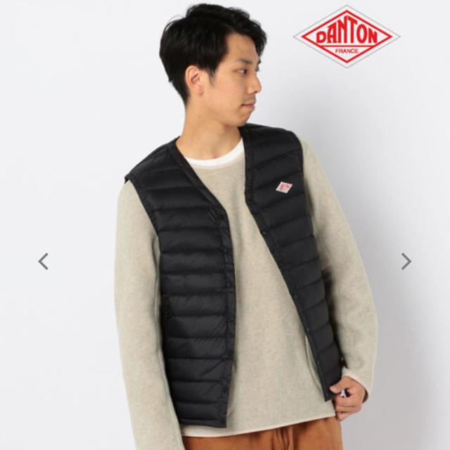 DANTON(ダントン)のダントン  インナーダウンベスト 黒 40 メンズのジャケット/アウター(ダウンベスト)の商品写真