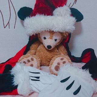 ディズニー(Disney)のミッキー 公式サンタマフラー手袋付ニット帽(ニット帽/ビーニー)