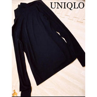 UNIQLO - UNIQLO 超美品 ネック付き インナーにもそのままでもオールシーズン使える♫