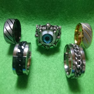 ファッションリング5個まとめ売り(メンズ)(リング(指輪))