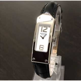 Hermes - メンテ済み ベルト2種付き 極美品 エルメス時計 ケリー2 白盤 電池交換済み