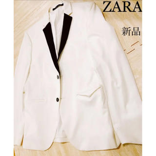 ZARA - 新品未使用☆ZARA スーツジャケット ホワイト パーティードレスコードにも◎