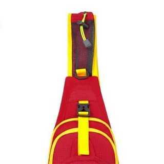レッド スポーティー メッセンジャーバッグ 男女兼用 防水加工 ショルダーバッグ(ボディバッグ/ウエストポーチ)