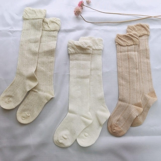 familiar - 透かし編みソックス3足セット Mサイズ12-14cm ベビー靴下ハイソックス