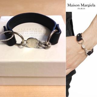 Maison Martin Margiela - 新品■S■マルジェラ 18aw■シルバー レザーブレスレット■8127
