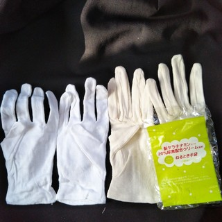 綿100%素材白手袋、綿100%素材寝るとき手袋 ⑦