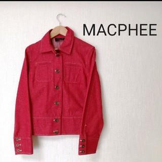 マカフィー(MACPHEE)の【美品】マカフィー MACPHEE デニムジャケット レッド フリーサイズ (Gジャン/デニムジャケット)